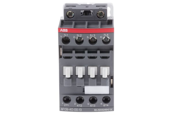 Product image for 4 Pole Contactor, 25A, 100-250VAC/DC,4NO