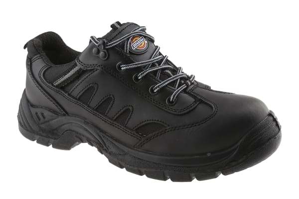Product image for Dickies Stockton Black Men  Toe Cap Safety Trainers, UK 9, EU 43