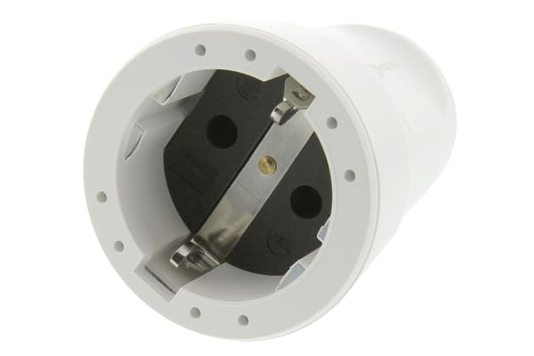 Product image for ABL Sursum Europe Mains Connector Type F - German Schuko, 16A, Cable Mount, 250 V
