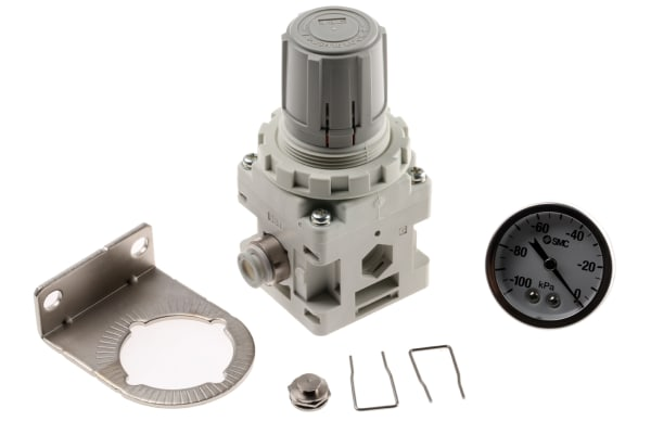 Product image for Vac regulator 8mm with gauge & bracket