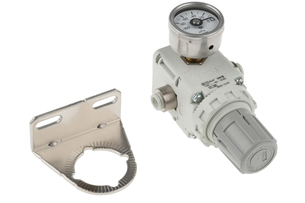Product image for Vac regulator 6mm with gauge & bracket