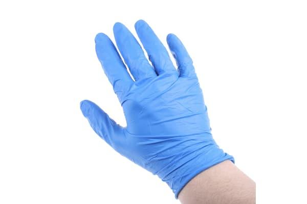 Product image for G10 BLUE NITRILE GLOVES / M