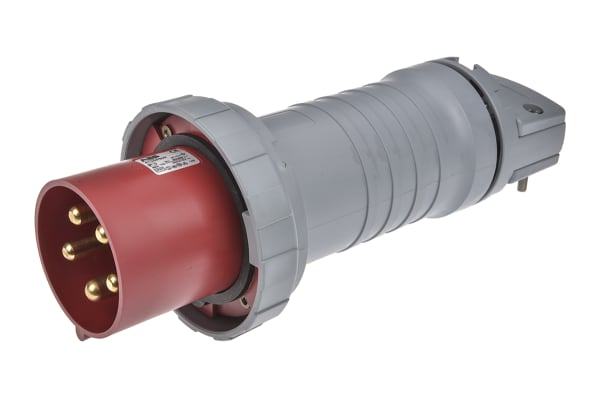 Product image for ABB, Tough & Safe IP67 Red Cable Mount 3P+N+E Industrial Power Plug, Rated At 125.0A, 415.0 V