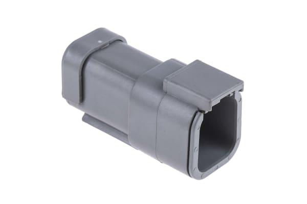 Product image for Deutsch, DTM Automotive Connector Socket 6 Way, Crimp Termination