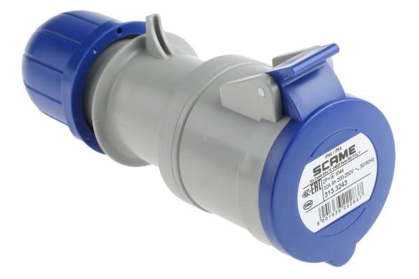 Product image for Glanded socket 2P+E 32A 230V IP44