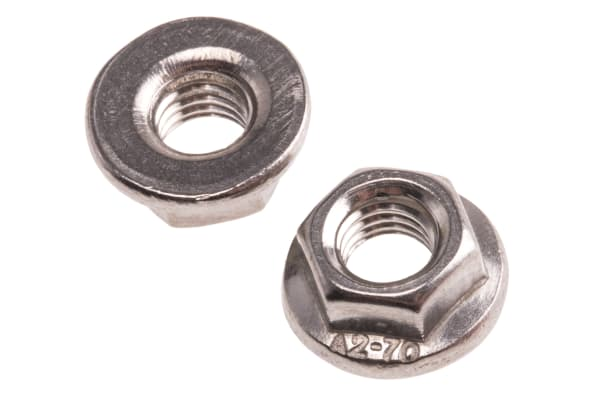 Product image for Stainless steel plain flange nut,M5