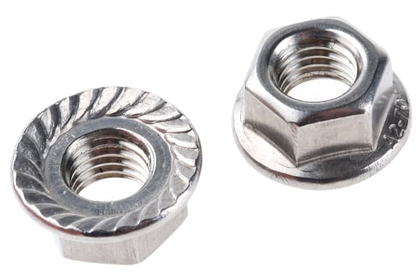 Product image for Stainless steel serrated flange nut,M10