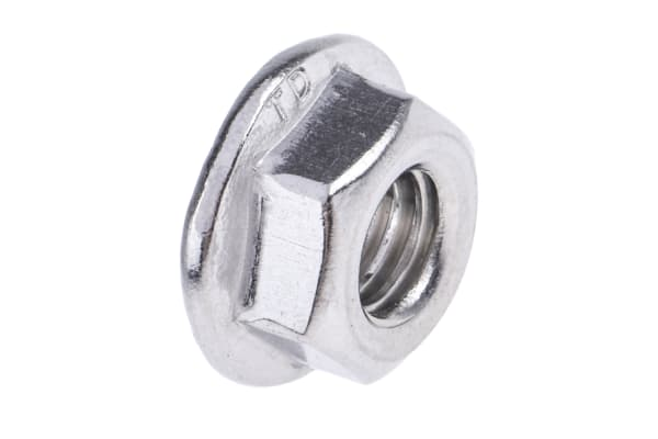 Product image for Stainless steel serrated flange nut,M6