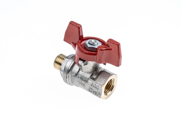 Product image for T handle ball valve 1/4in M-F