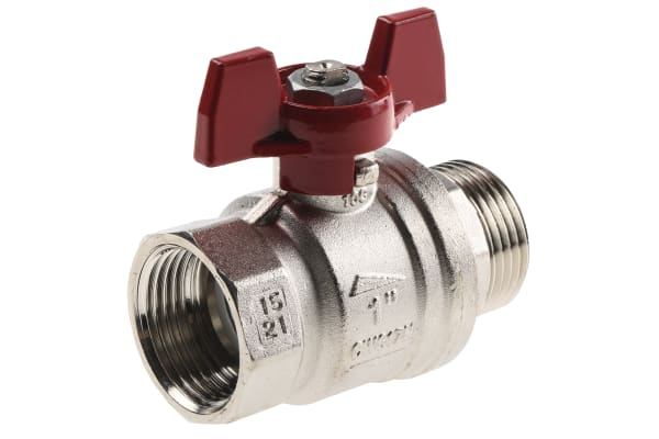 Product image for T handle ball valve 1in M-F