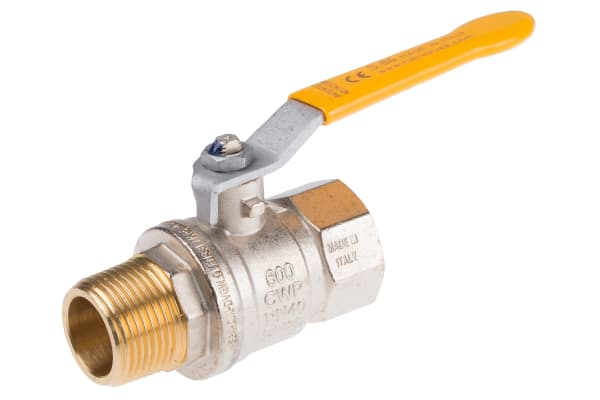 Product image for Gas lever handle ball valve 1in