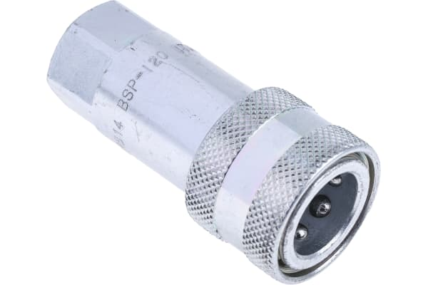 Product image for 1/4in BSP female steel body coupler