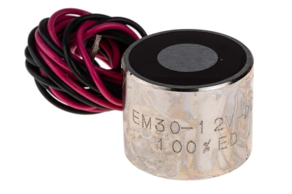 Product image for 30mm Dia. 12V Electro Holding Magnet