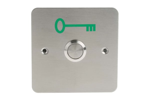 Product image for Exit button release stainless steel