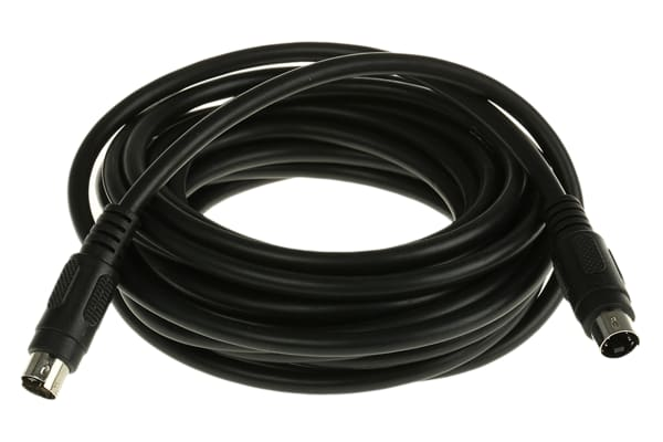 Product image for S-VHS plug to S-VHS plug lead 5m