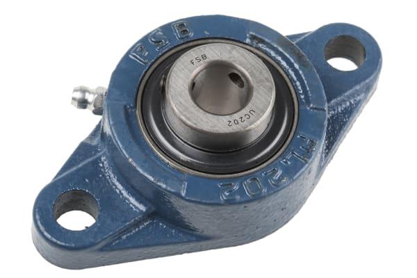 Product image for 2 Bolt Flange Bearing Unit 15mm