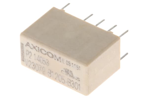 Product image for Relay pcb DPDT 2CO 2A 24VDC coil