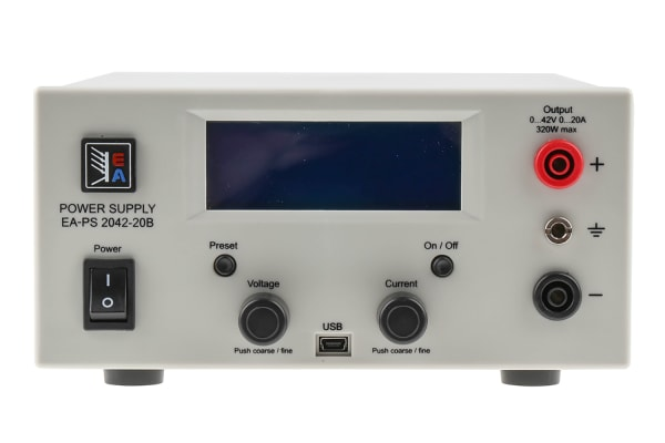 Product image for EA Elektro-Automatik Bench Power Supply, , 320W, 1 Output , , 0 → 42V, 20A