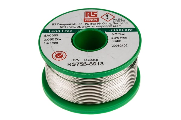 Product image for Lead free 3% Ag solder, 1.2mm, 250g