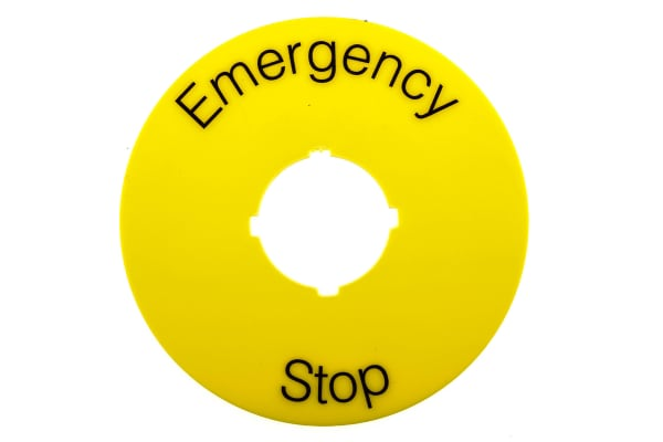 Product image for Legend E Stop Round 70mm Yellow