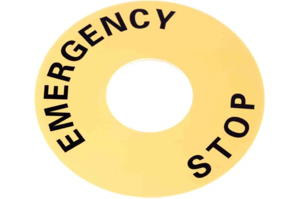 Product image for Legend plate with Emergency Stop,60mm