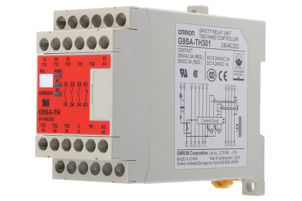 Product image for Two hand control relay,3PST-NO,Type IIIc