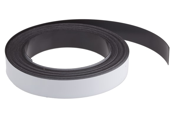 Product image for MAGNETIC RACKING STRIP - 20MM X 10M -WHT