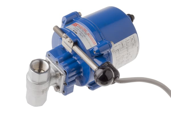 Product image for 1/2in.BSP Brass B/Valve w/ Elec.Actuator