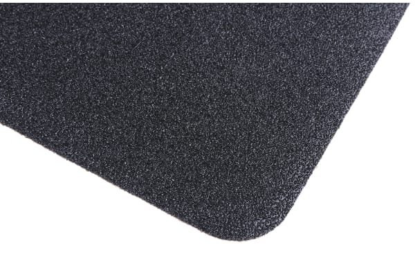 Product image for RS PRO Black Anti-Slip Flooring Polymer Cleats With Solid Surface Finish 610mm (Length) 152mm (Width) 0.05mm (Thickness)