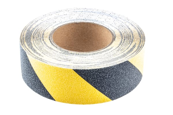 Product image for Anti Slip Tape Black/Yellow 50mm x 18.3m
