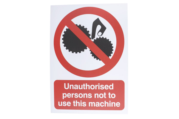 Product image for PP sign 'Persons not..operate',210x148mm