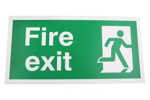 Product image for Plastic FIRE EXIT, Fire Exit, English, Exit Sign