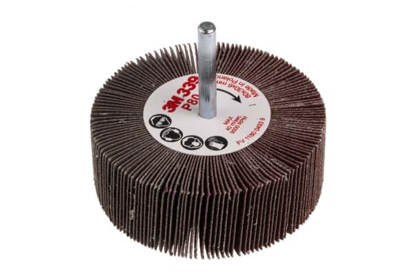 Product image for 3M Aluminium Oxide Flap Wheel, 80mm Diameter, P80 Grit