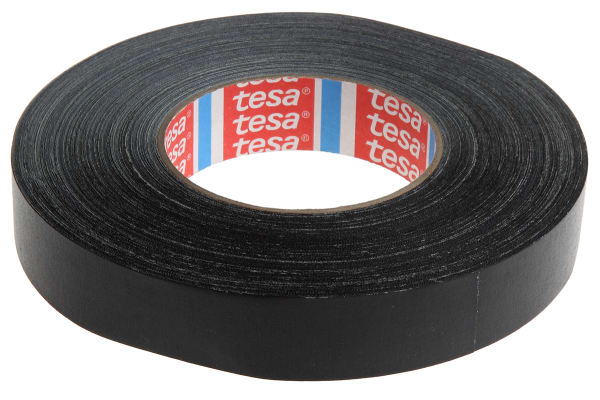 Product image for ACRYLIC CLOTH TAPE BLACK 50MX25MM