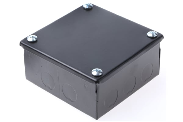 Product image for Adaptable Box 100x100x50mm Black Enamel