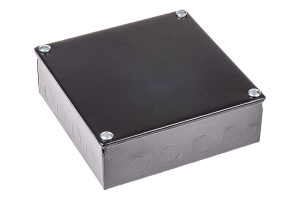 Product image for Adaptable Box 150x150x50mm Black Enamel