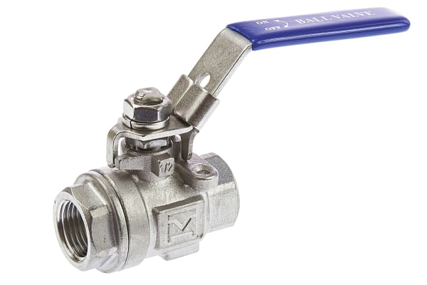 Product image for 2 pc S/steel Ball Valve,1/2in. BSPP F-F