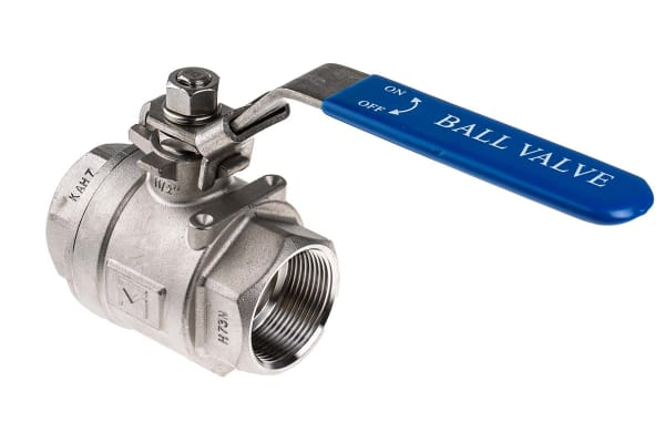 Product image for 2 pc S/steel Ball Valve,1 1/2in BSPP F-F
