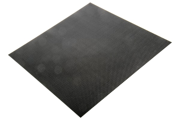 Product image for Carbon Fibre Epoxy Sheet, 300x300x1mm