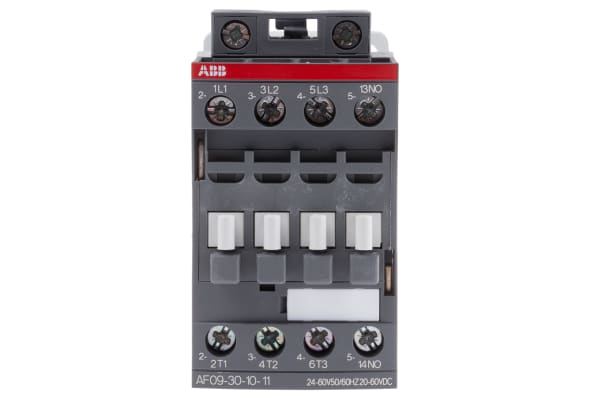 Product image for 3 Pole Contactor 4kW 24-60AC,20-60DC NO