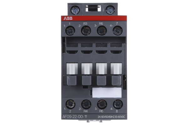 Product image for 4 Pole Contactor 25A 24-60VAC/DC 2NO+2NC