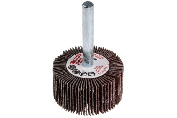 Product image for 3M Aluminium Oxide Flap Wheel, 40mm Diameter, P80 Grit