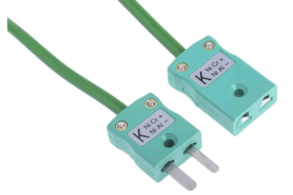 Product image for Thermocouple type K Extension Lead 2m