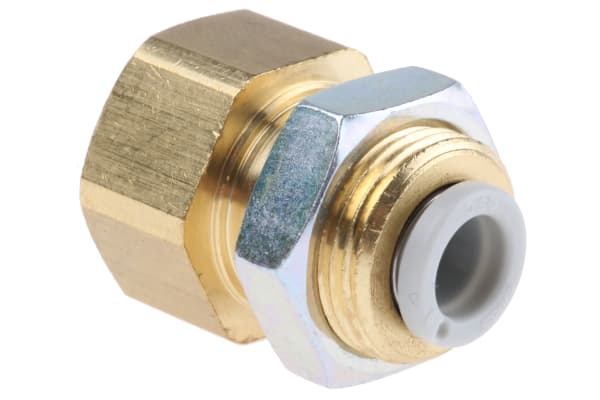 Product image for Bulkhead Connector 6mm to 1/4