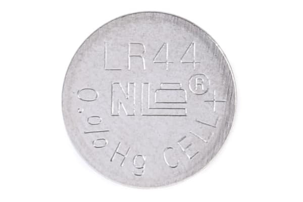 Product image for LR44 Alkaline Coin Cell 1.5V 158mAh