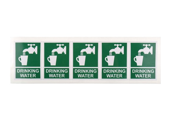Product image for Drinking Water Label, 75x55mm