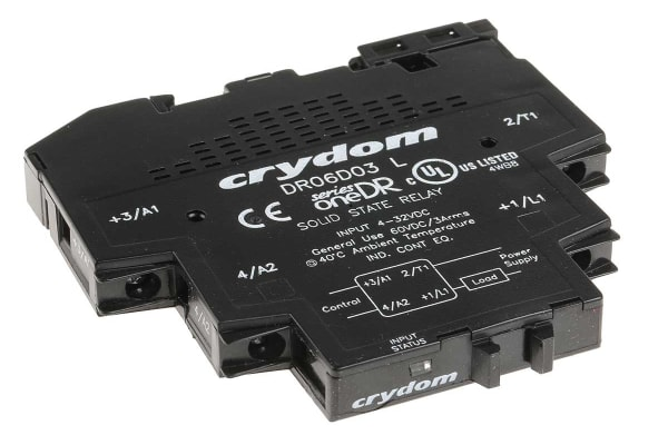 Product image for 60VDC/3A,4-32VDC IN,11MM,DR SSR