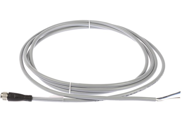 Product image for 4 PIN M8 STRAIGHT CONNECTOR 2M PVC CABLE