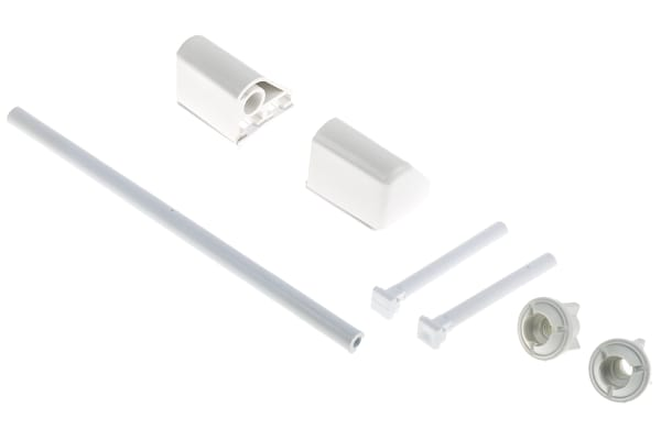 Product image for TOILET SEAT HINGE WHITE