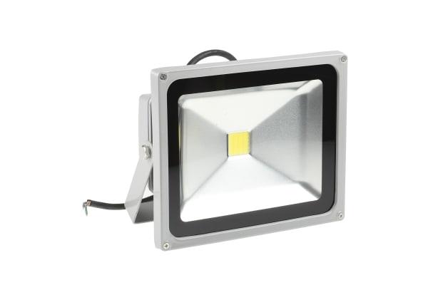 Product image for RS PRO LED Floodlight, 1 LED, 30 W, 2400 → 2700 lm, IP65 85 → 265 V